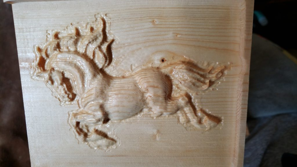 Relief carving of a horse